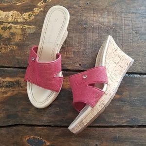 Etienne Aigner Dunkaan Cork wedges sandals
